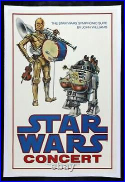STAR WARS CineMasterpieces VINTAGE CONCERT MOVIE POSTER C3PO R2D2 DROID 1978