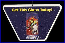 STAR WARS Coca-Cola & BURGER KING 1978 STORE DISPLAY MOVIE POSTER GLASSES MOBILE