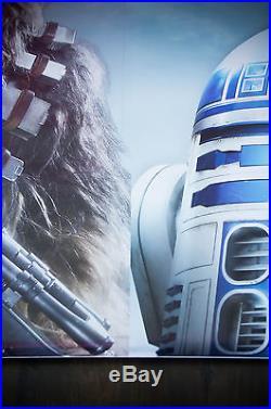 STAR WARS DISNEYLAND PRINTER'S PROOF RARE 4,5x6,5 ft Original Movie Poster 2017