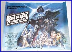 STAR WARS EMPIRE STRIKES BACK 1980 ORIGINAL BRITISH QUAD 30x40 MOVIE POSTER ESB