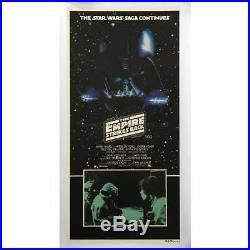 STAR WARS EMPIRE STRIKES BACK Original Daybill Movie Poster, On LINEN 1980