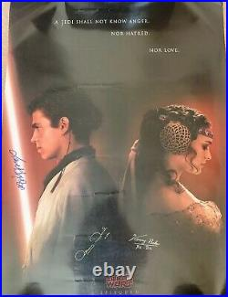 STAR WARS EPISODE II ATTACK OF THE CLONES Autographed Original Movie Poster27x40