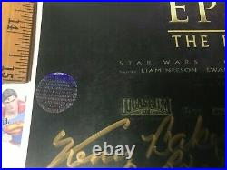 STAR WARS Episode One (1) 4 CAST SIGNED MOVIE POSTER 11x17 WITH COA