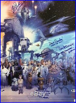 STAR WARS GALAXY signed Cast Poster Mark Hamill PROWSE MAYHEW DANIELS McDIARMID