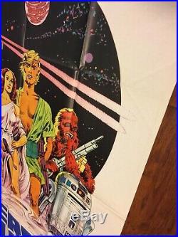 STAR WARS Italian 2 Sheet Movie Poster Original Papuzzo 1977 Vintage Foreign