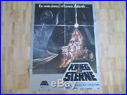 STAR WARS KRIEG DER STERNE Original Filmplakat 1977 84 x 59 cm