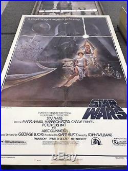 STAR WARS ORIGINAL 1977 STYLE A 1 SHEET NSS 77/21 27x41