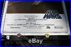 STAR WARS ORIGINAL VINTAGE AUTHENTIC 1st TOM JUNG 1977 77/21-0 ROLLED POSTER