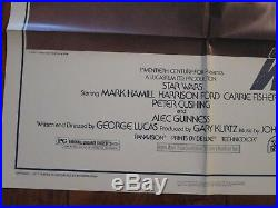 STAR WARS Original 1977 A Style 1sheet Movie Poster Lucas