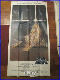 STAR WARS Original 1977 MINT 3 sheet Movie Poster- George Lucas