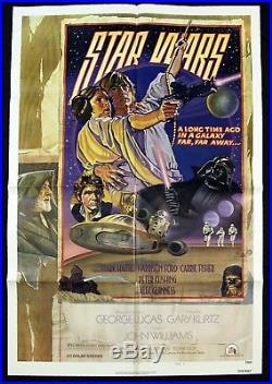 STAR WARS Original 1977 Movie Poster Circus Style D Drew Struzan art MINT