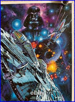 STAR WARS Original 1982 Rolled Japanese Movie Poster Ohrai Noriyoshi LUCAS