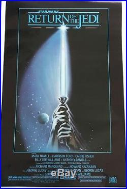 STAR WARS Original Authentic Vintage 1983 Movie Poster Return of the Jedi
