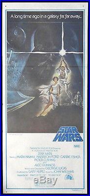 STAR WARS Original Daybill Movie Poster TRUE FIRST RELEASE Rare