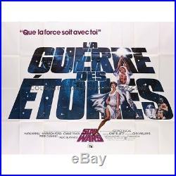 STAR WARS Original French Billboard Poster 1977 George Lucas, RARE