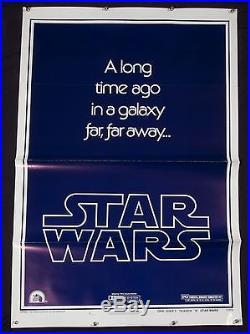 STAR WARS Original STYLE B Teaser 1977 Gau Logo 77/21-0 Tri-Fold Mint