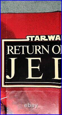 STAR WARS RETURN OF THE JEDI (1983) v. Rare original UK advance quad movie poster