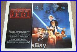 STAR WARS RETURN OF THE JEDI ORIGINAL 1983 US 22x28 Half Sheet film poster