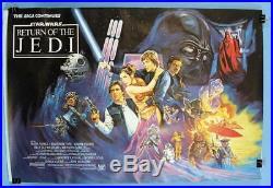 STAR WARS RETURN OF THE JEDI Original 1983 British Quad Boba Fett version