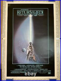 STAR WARS RETURN OF THE JEDI Original 27x41 Movie Poster Rolled Style A 1983