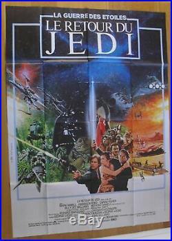 STAR WARS RETURN OF THE JEDI sci-fi original french movie poster 63x47'83