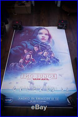STAR WARS ROGUE ONE A 4x6 ft Bus Shelter Original Movie Poster 2016
