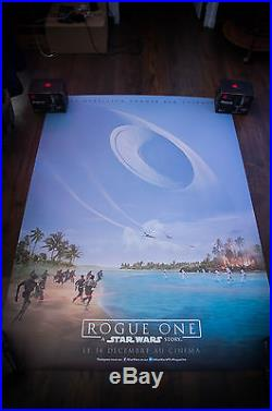 STAR WARS ROGUE ONE G 4x6 ft Bus Shelter Original Movie Poster 2016