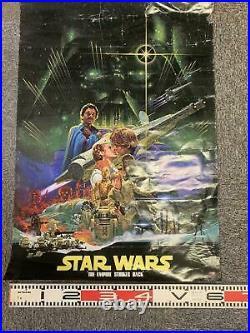 STAR WARS THE EMPIRE STRIKES BACK 1980' Original Movie Poster Japanese B2 Ohrai