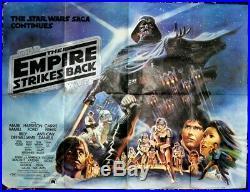 STAR WARS THE EMPIRE STRIKES BACK (1980) original UK quad movie poster