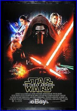 STAR WARS THE FORCE AWAKENS CineMasterpieces 2015 ORIGINAL KYLO REN MOVIE POSTER