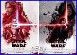 STAR WARS THE LAST JEDI Original 27x40 DS INTERNATIONAL Movie Poster Set MINT