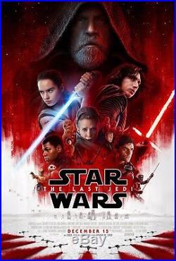 STAR WARS THE LAST JEDI Original Movie Poster DS 27x40 #StarWars #SciFi #Jedi