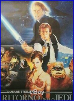 STAR WARS THE RETURN OF THE JEDI 1983 Original Movie Poster 39x55 2Sh Italian