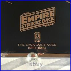 STAR WARS The Empire Strikes Back 10th Anniversary Poster GOLD Darth Vader