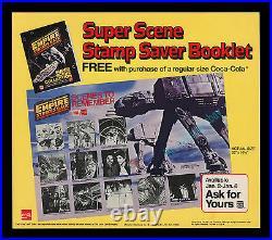 STAR WARS The Empire Strikes Back COCA-COLA Burger King STORE DISPLAY CARD