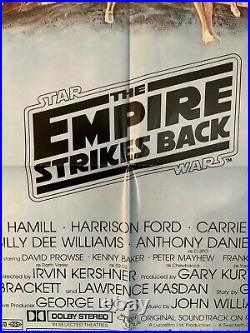 STAR WARS The Empire Strikes Back Original 1980 27x41 Style B Movie Poster