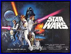 STAR WARS UK BRITISH QUAD CineMasterpieces RARE ORIGINAL MOVIE POSTER 1977