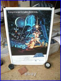 STAR WARS, orig rolled 1-sh (1992) / movie poster Hildebrandt 15th anniversary