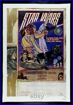 STAR WARS style D 27x41 1978 George Lucas sci-fi epic Linen backed