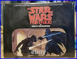 Sealed Vtg Original 1977 Star Wars Portfolio By Ralph Mcquarrie 21 Art Plates