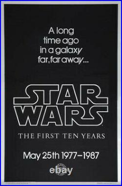 Star Wars 10th Anniversary Silver Mylar Rare Advance Movie Poster 1987