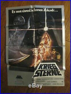 Star Wars -1977 German Movie Poster Ford George Lucas