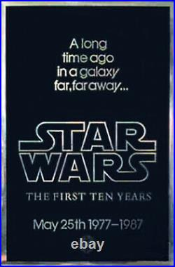 Star Wars (1977) Movie Poster 10th Anniversary, Original, SS, Unused, NM, Rolled