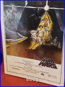 Star Wars 1977 ORIGINAL 1st Print One Sheet'STYLE A' RARE Movie Poster 77/21-0