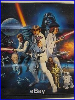 Star Wars 1977 Original C Style Poster Chantrell Art Lucas