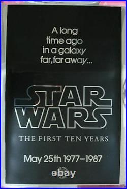 Star Wars (1977) Original Movie Poster 10th Anniversary Mylar Rolled