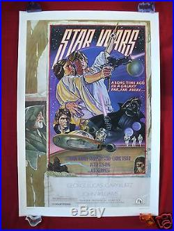 Star Wars 1977 Original Movie Poster 1sh Linen Backed Style D Rolled Studio Nm