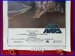 Star Wars 1977 Original Movie Poster 1sh Style A Darth Vader Linen Beauty