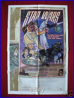 Star Wars 1977 Original Movie Poster 1sh Style D Darth Vader Force Awakens Nm-m