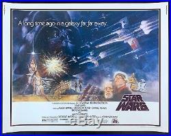 Star Wars 1977 Original Movie Poster Half Sheet Rolled Never Folded C9-C10